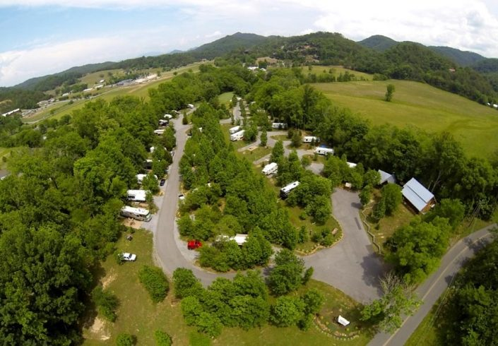 Aerial View of Up The Creek Campsites