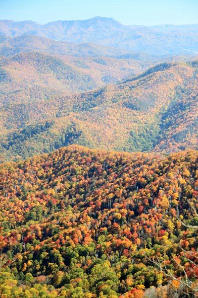 Great Smoky Mountains Aerial View