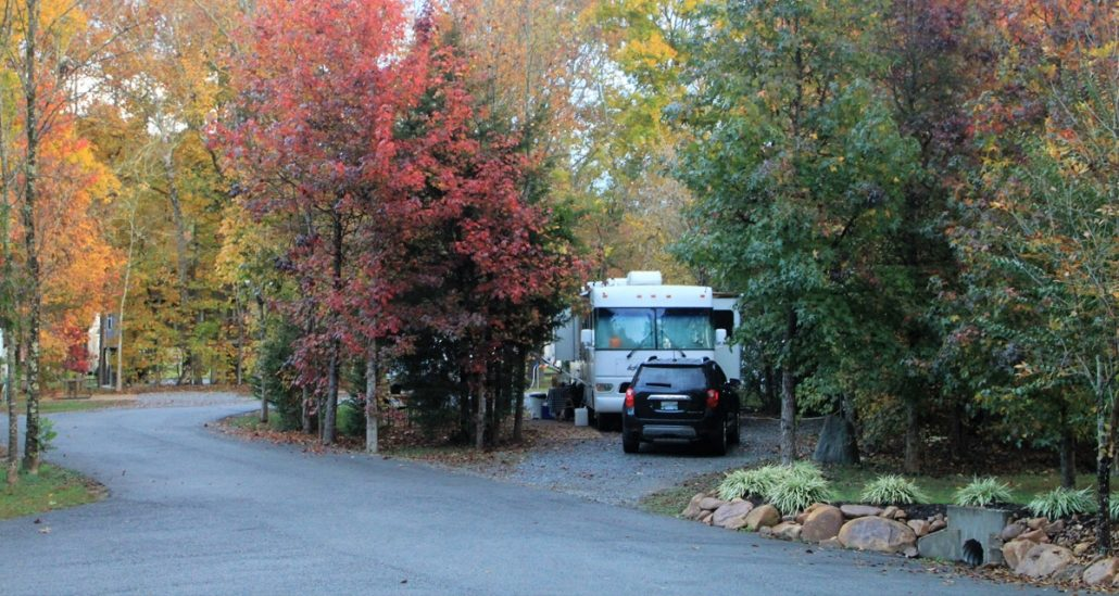 Pull Through RV Site at Up The Creek near Pigeon Forge